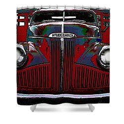 Studebaker Truck Shower Curtain