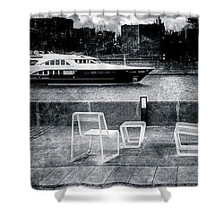 Study In Black And White Shower Curtain by Alexander Senin