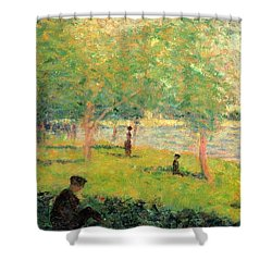 Study On La Grande Jatte Shower Curtain by Georges Seurat