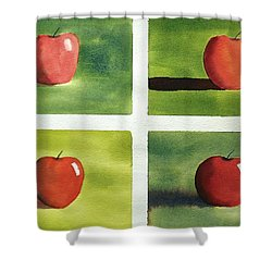 Study Red And Green Shower Curtain