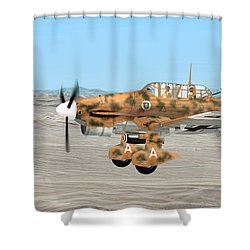 Stuka Dive Bomber Shower Curtain
