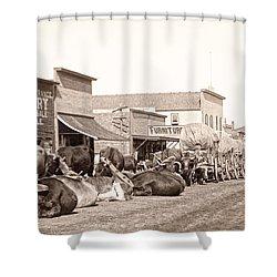 Sturgis South Dakota C. 1890 Shower Curtain by Daniel Hagerman
