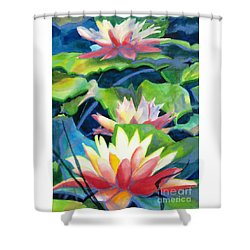 Styalized Lily Pads 3 Shower Curtain