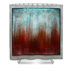 Stylized Beach Grasses Shower Curtain