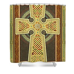 Stylized Celtic Cross Shower Curtain