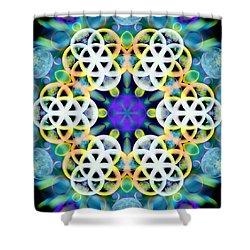 Subatomic Orbit Shower Curtain