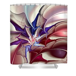 Subspace Fracture Shower Curtain by Anastasiya Malakhova