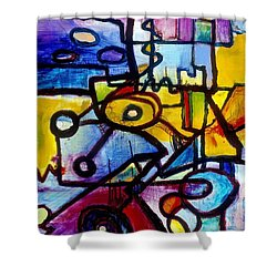 Suburbias Daily Beat Shower Curtain
