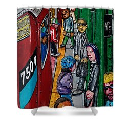 Subway 1 Shower Curtain by Rob Hans