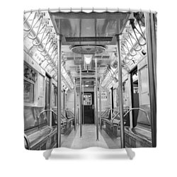 New York City - Subway Car Shower Curtain