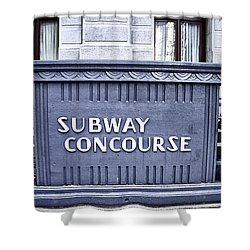 Subway Concourse At City Hall Shower Curtain by Bill Cannon