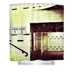 Subway  Shower Curtain by Nick  Biemans