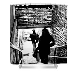 Subway Shadows Shower Curtain by Karol Livote
