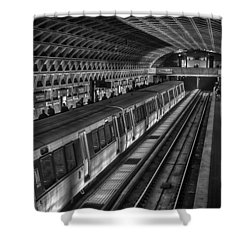 Subway Train Shower Curtain by Lynn Palmer