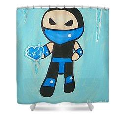 Subzero Frozen Heart Shower Curtain by Marisela Mungia