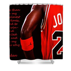 Shower Curtain featuring the digital art Success Quote 1 by Brian Reaves