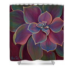 Shower Curtain featuring the painting Succulent Delicacy by Sandi Whetzel