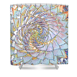 Succulent Spiral No.1 Shower Curtain