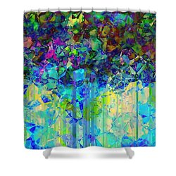 Shower Curtain featuring the digital art Sudden Rain And My Blues by Wendy J St Christopher