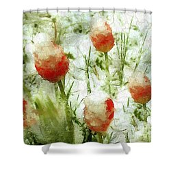 Suddenly Snow Shower Curtain by RC deWinter