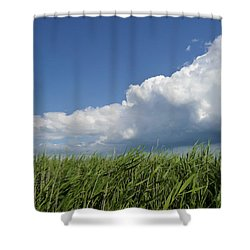 Suffolk Skies Shower Curtain