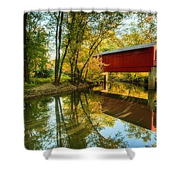 Sugar Creek Covered Bridge Shower Curtain