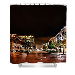 Sugar Land Town Square Shower Curtain by David Morefield