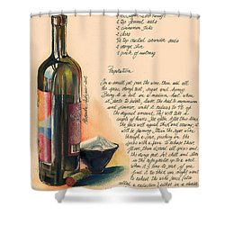 Sugared Wine Shower Curtain by Alessandra Andrisani