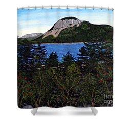 Sugarloaf Hill Shower Curtain by Barbara Griffin