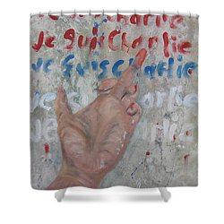 Je Suis Charlie Finger Painting To Al Qaeda Shower Curtain