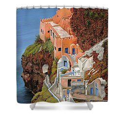 sul mare Greco Shower Curtain by Guido Borelli