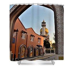 Sultan Mosque Arab Street Thru Arch Singapore Shower Curtain by Imran Ahmed
