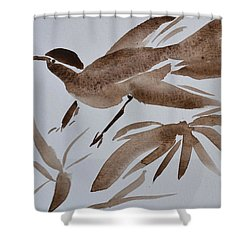 Sumi Bird Shower Curtain