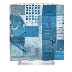 Summer 2014 - J088097112-blueall Shower Curtain by Variance Collections