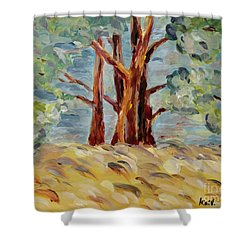 Shower Curtain featuring the painting Summer Afternoon by Maria Langgle