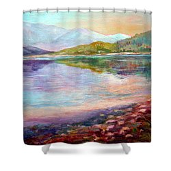 Shower Curtain featuring the painting Summer Afternoon by Sher Nasser