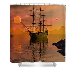 Summer Anchorage Shower Curtain