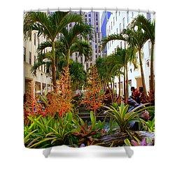 Summer At Rockefeller Center Shower Curtain by Dora Sofia Caputo Photographic Art and Design