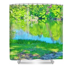 Summer At The Lake Shower Curtain