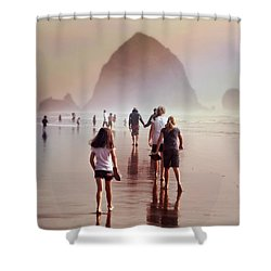 Shower Curtain featuring the photograph Summer At The Seashore  by Micki Findlay