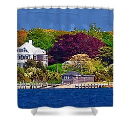 Summer At The Shore Shower Curtain by Kirt Tisdale