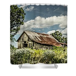 Shower Curtain featuring the photograph Summer Barn by Debbie Green