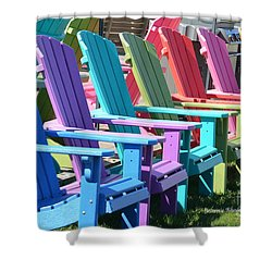Summer Beach Chairs Shower Curtain