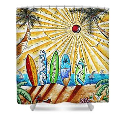 Summer Break By Madart Shower Curtain by Megan Duncanson