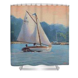 Summer Breeze Shower Curtain by Dianne Panarelli Miller