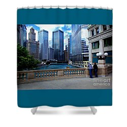 Summer Breeze On The Chicago River - Color Shower Curtain