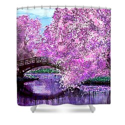 Summer Bridge Shower Curtain