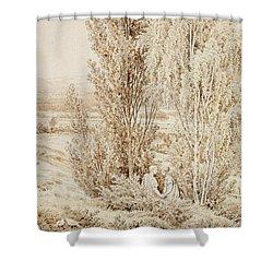 Summer Shower Curtain by Caspar David Friedrich