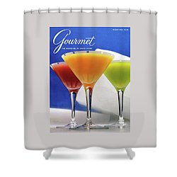 Summer Cocktails Shower Curtain by Romulo Yanes