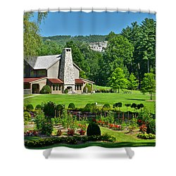 Summer Cottage Shower Curtain by Frozen in Time Fine Art Photography